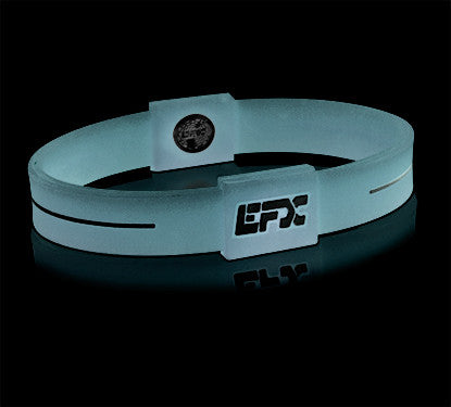 Silicone Sport Wristband - Glow In The Dark (Blue)