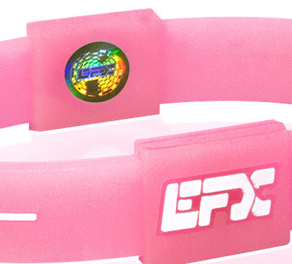 Silicone Sport Wristband - Glow In The Dark (Pink)