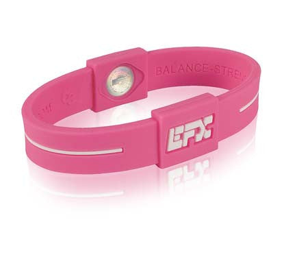 Silicone Sport Wristband - Pink / White