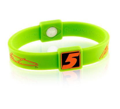 Silicone Sport Wristband - NASCAR Mark Martin (Green/Orange)