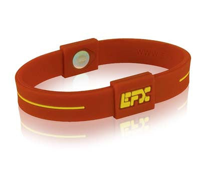 Silicone Sport Wristband - Cardinal / Gold