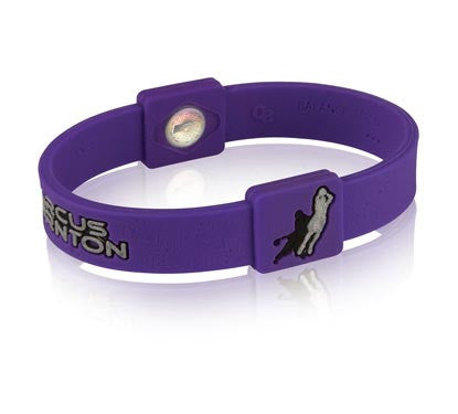Silicone Sport Wristband - Marcus Thornton (Purple/Grey)