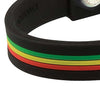 Silicone Sport Wristband - Red / Yellow / Green (Stripe)