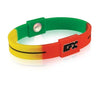 Silicone Sport Wristband - Red / Yellow / Green