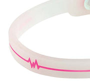 Silicone Ultra 1 Anklet - Translucent / Pink
