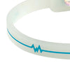Silicone Ultra 1 Anklet - Translucent / Teal