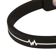 Silicone Ultra 1 Anklet - Black / White 9 INCH