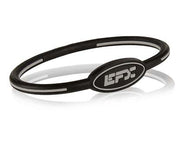 Silicone Oval Wristband - Black / Grey