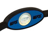 Silicone Oval Wristband - Black / Blue