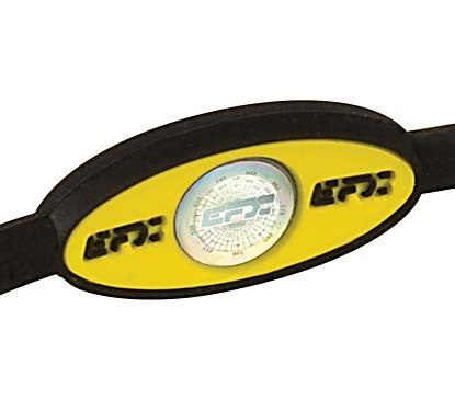 Silicone Oval Wristband - Black / Yellow