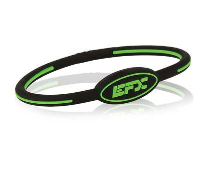 Silicone Oval Wristband - Black / Green
