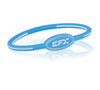 Silicone Oval Wristband - Lt. Blue / White