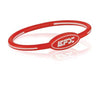 Silicone Oval Wristband - Red / White