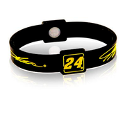 Silicone Sport Wristband - NASCAR Jeff Gordon (Blk/Yellow)