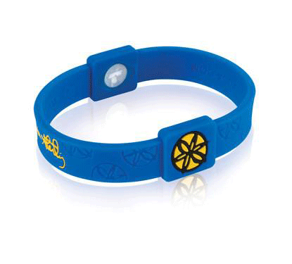 Silicone Sport Wristband - Jamie Sterling (Blue/Yellow)