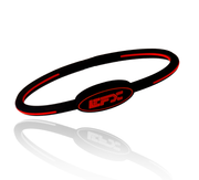 Silicone Oval Wristband - Black / Red
