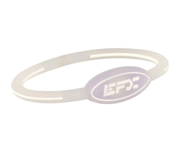 Silicone Oval Wristband - Translucent / Purple - 7""