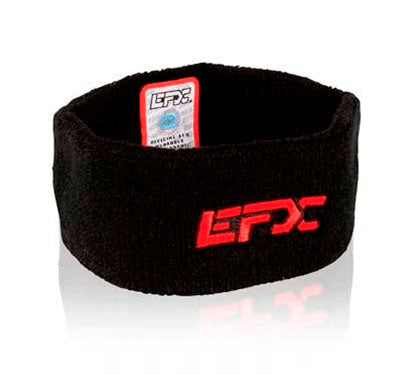 Terry Cloth Wristband - Black / Red (Pair of 2)