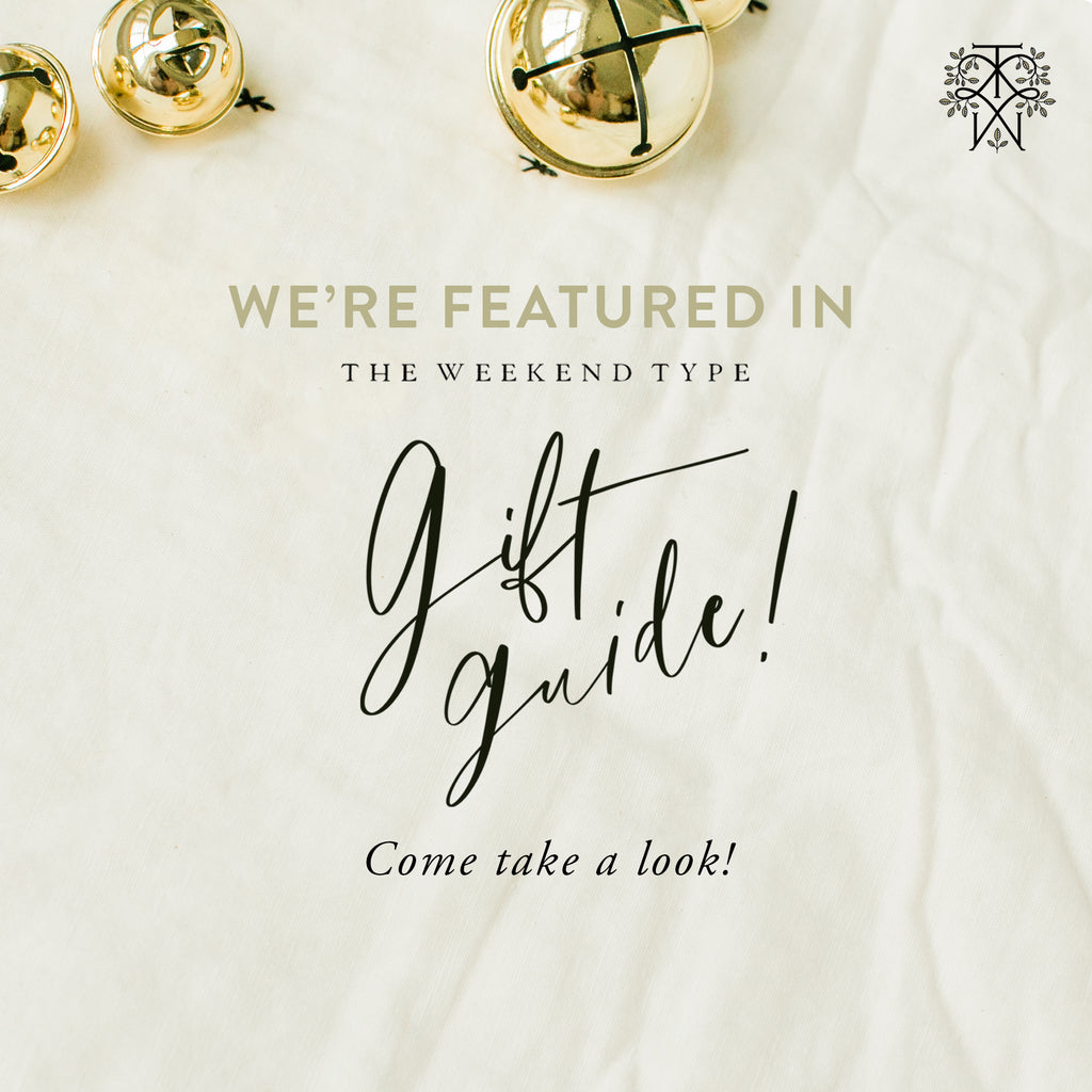 The Weekend Type Holiday Gift Guide features Everyday Heirloom