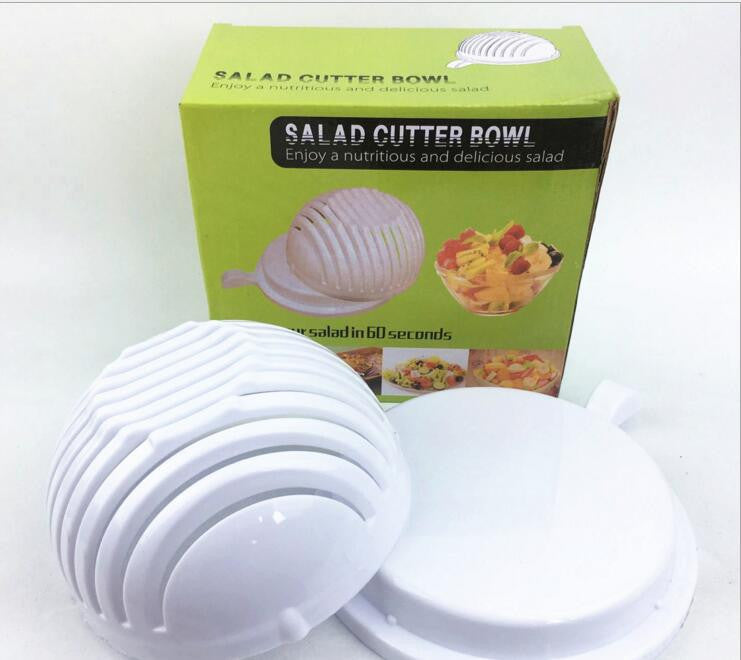 Salad Cutter Bowl Easy Salad Maker - Kitchen Ideas Store