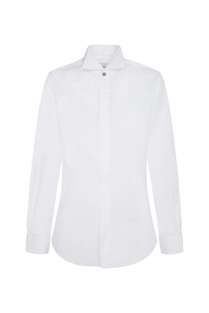 TUXEDO SHIRT IN WHITE COTTON