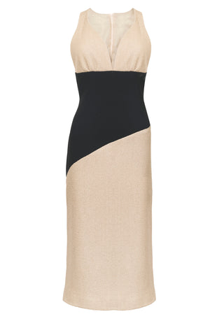 ARENA DRESS IN BLACK AND BEIGE