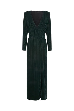 WRAP DRESS IN CHRISTMAS GREEN