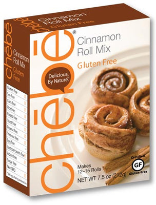 Cinnamon Roll Mix: 8-pack case, 7.5 oz. per package - chebe