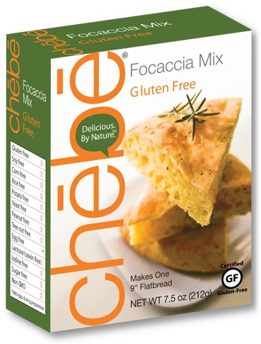 Focaccia Mix: 8-pack case, 7.5 oz. per package - chebe