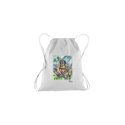 Adam Meyers Chimpanzee Drawstring Bag