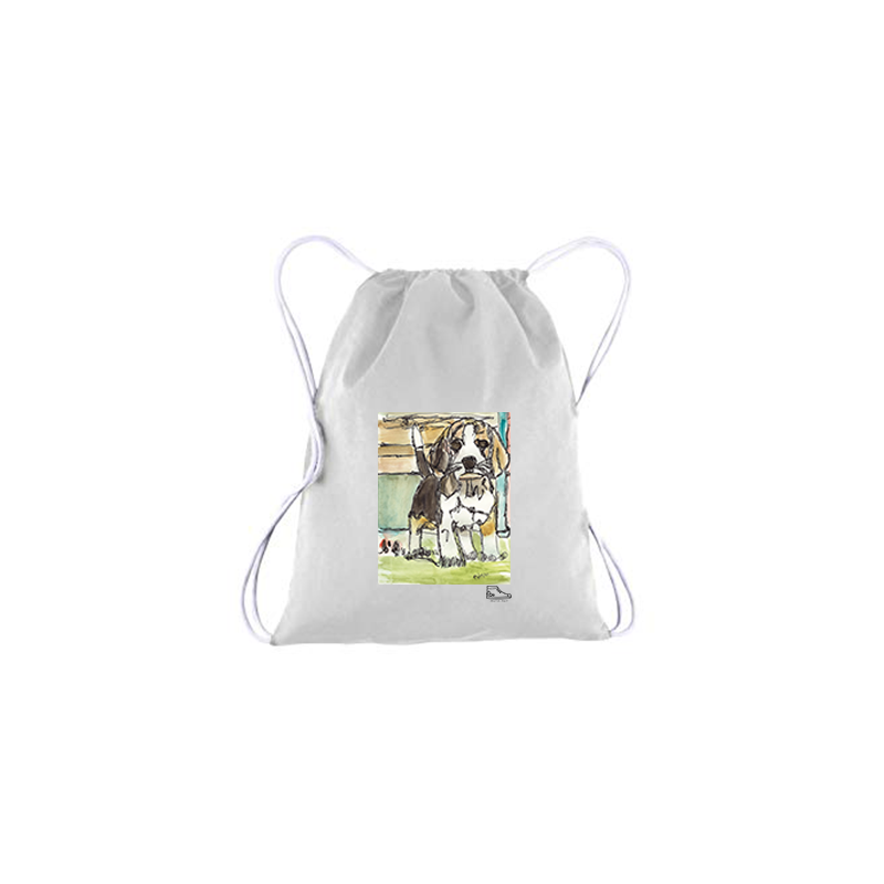 Adam Meyers Dog Drawstring Bag