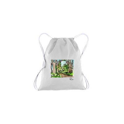 Adam Meyers Forest Drawstring Bag