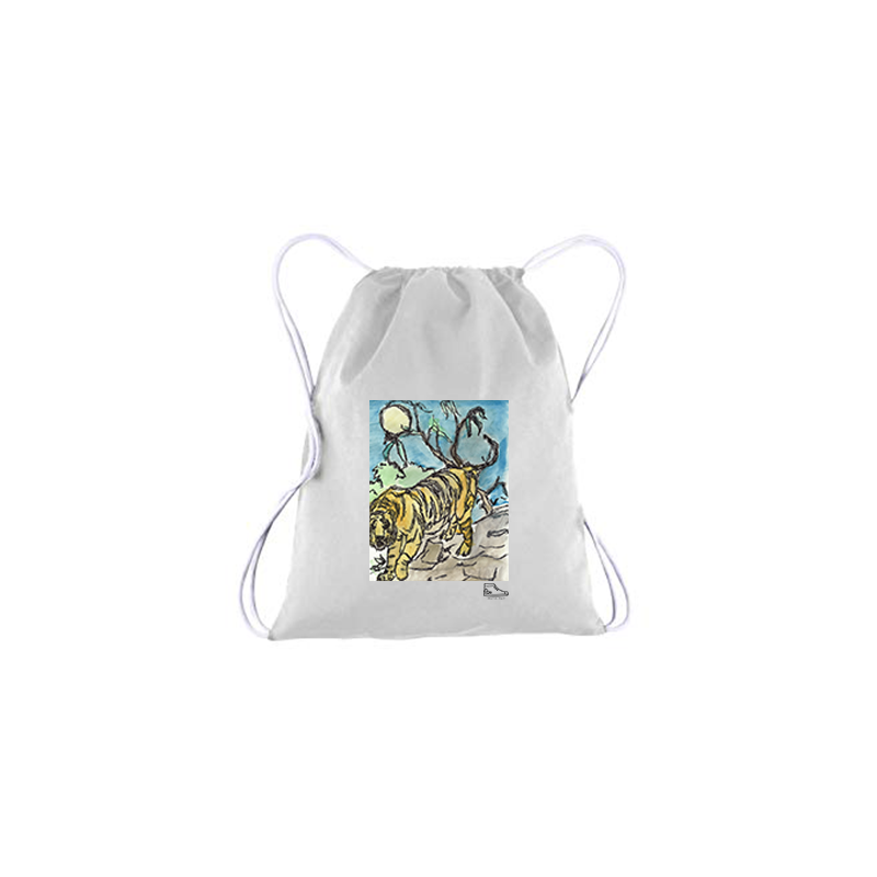 Adam Meyers Tiger Drawstring Bag