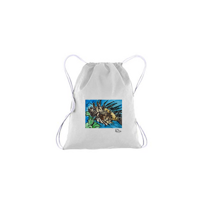 Adam Meyers Spikey The Fish Drawstring Bag