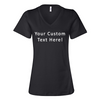 Custom Text V-Neck