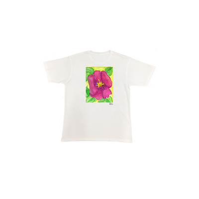 Estella Levin Pink Flower Short Sleeve