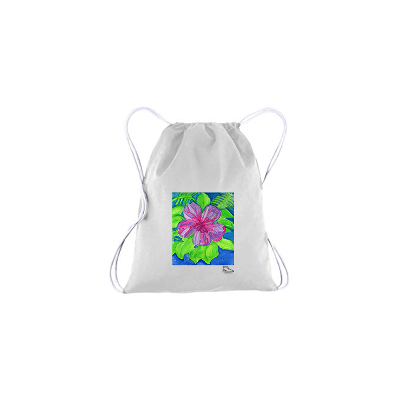 Estella Levin Flower Drawstring Bag