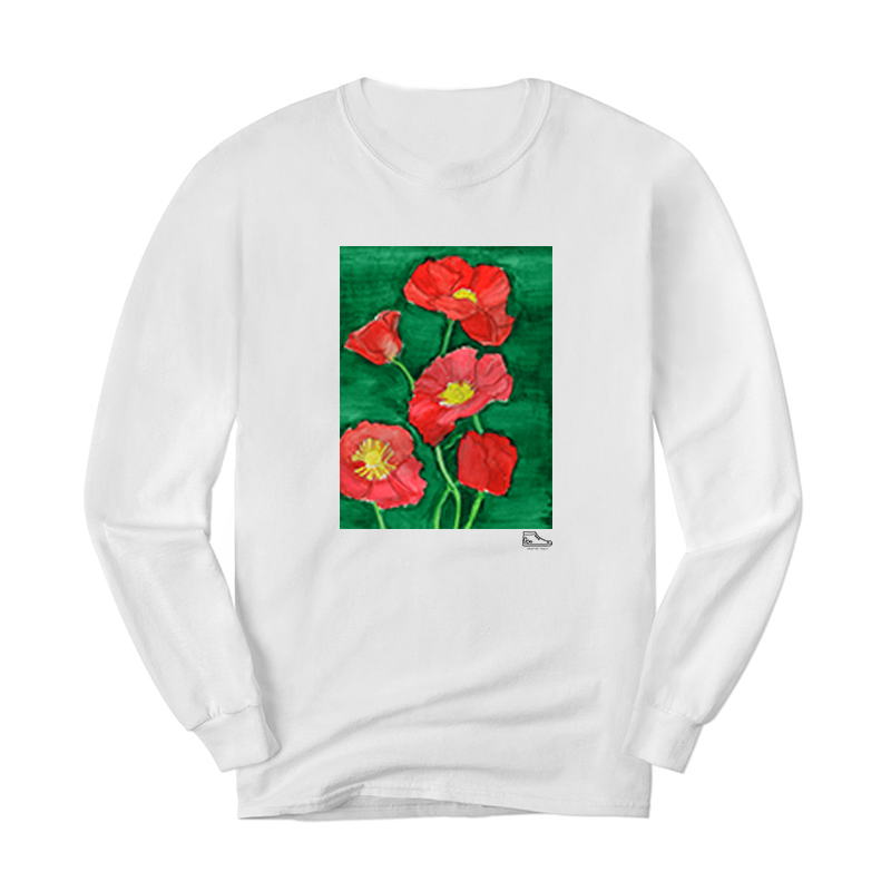 Estella Levin Red Flower Long Sleeve