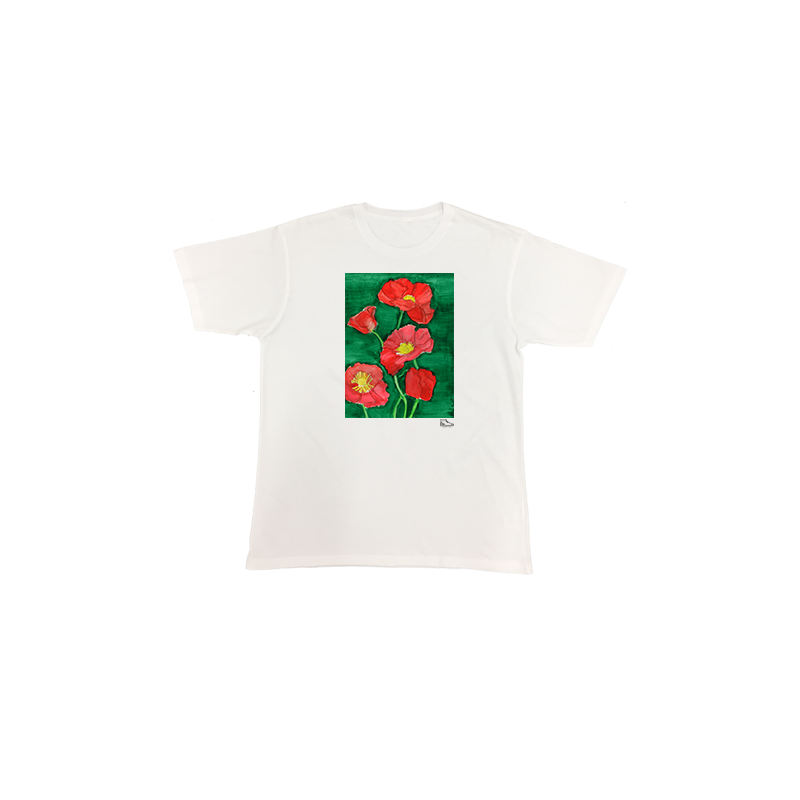 Estella Levin Red Flower Short Sleeve