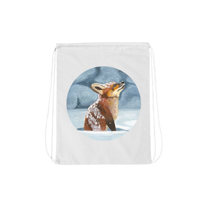 Alex Biagi Fox Drawstring Bag