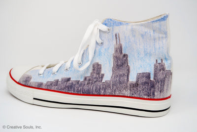 Chicago Skyline Hi Top Soles