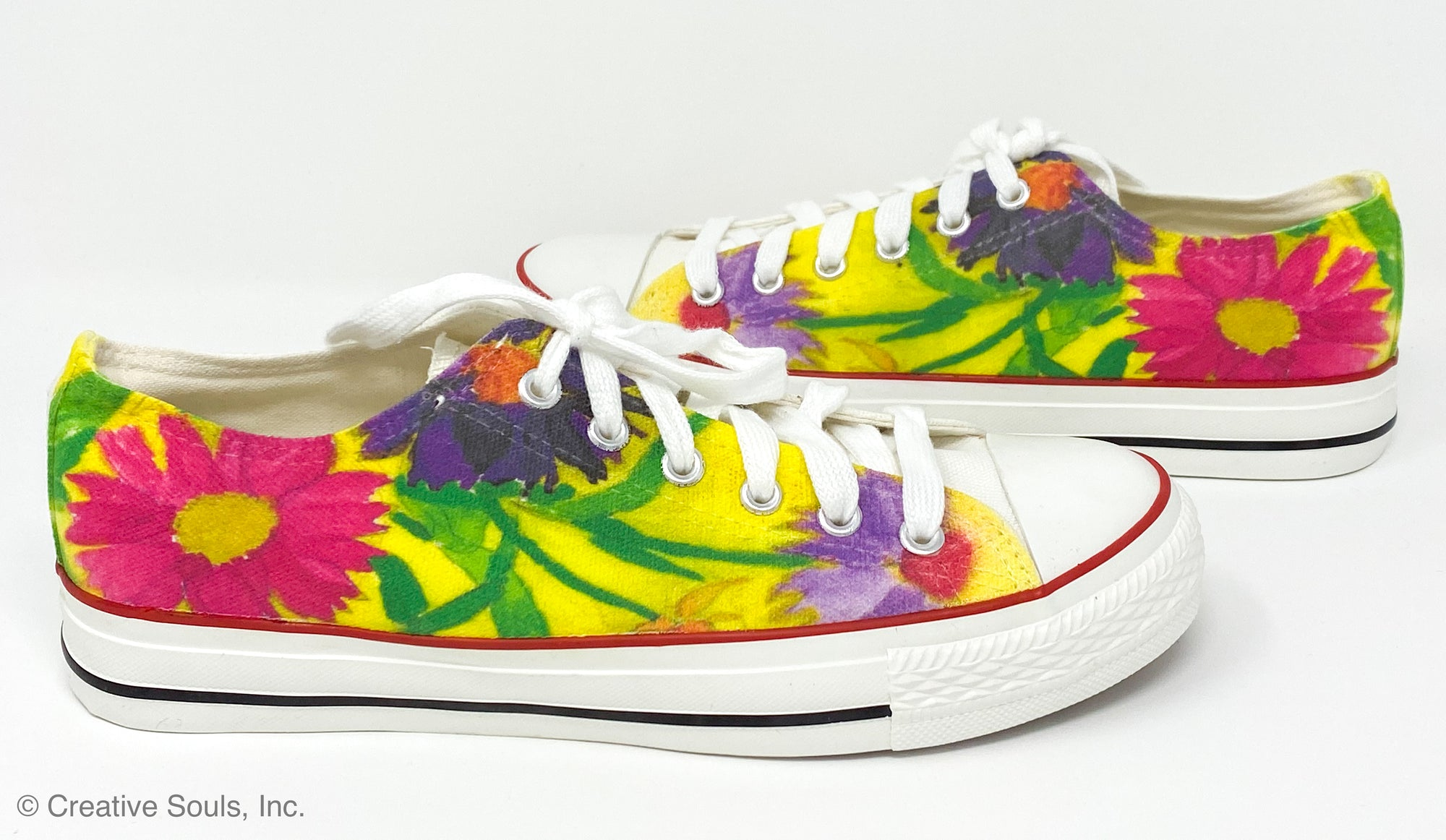 Estella Levin Colorful Flowers Low Top Soles
