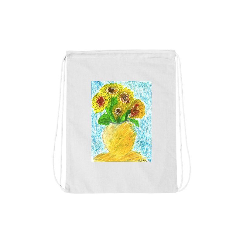 Jacob Spenadel Sunflower Drawstring Bag