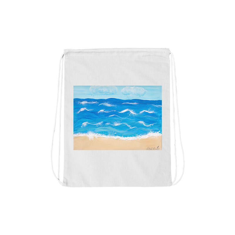 Jacob Spenadel At The Shore Drawstring Bag