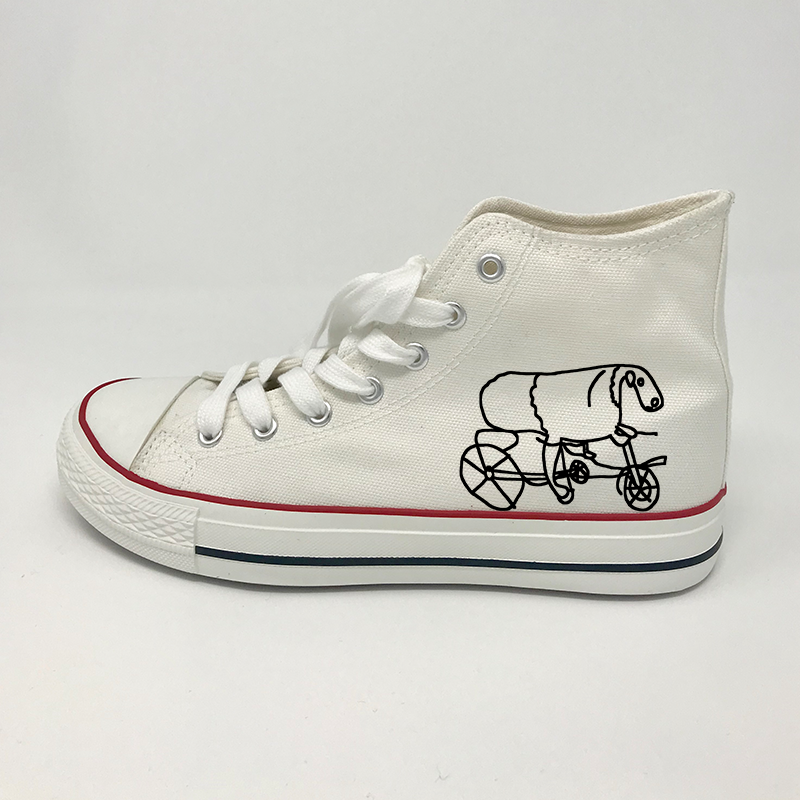 Joe Wilson Sheep On A Bike Hi Top Soles