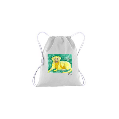 Michelle Rappaport Golden Retriever Drawstring Bag