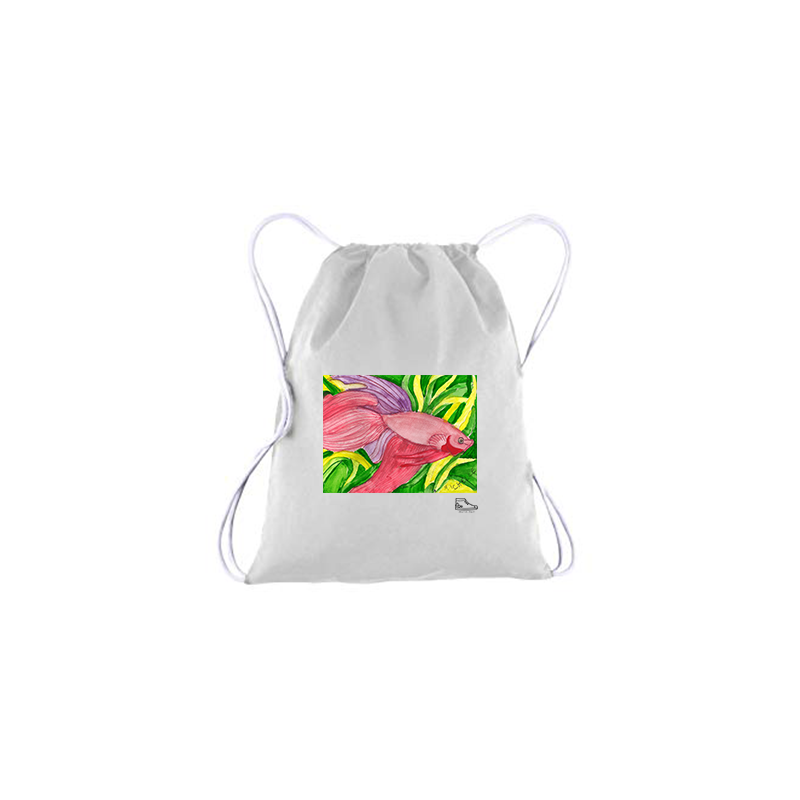 Michelle Rappaport Fish Drawstring Bag