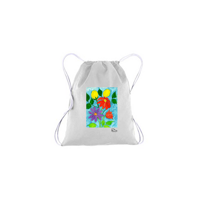 Michelle Rappaport Flowers Drawstring Bag