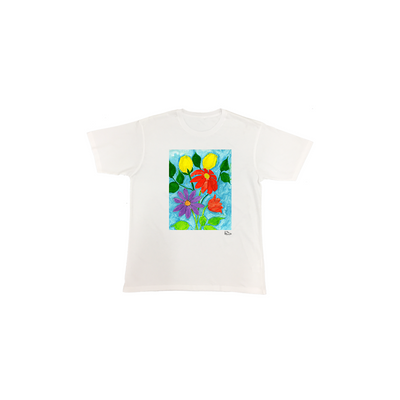 Michelle Rappaport Flowers Short Sleeve