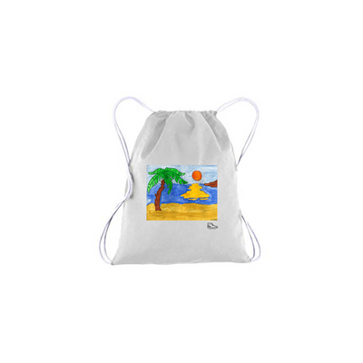 Noah Bronfeld Sunset Beach Drawstring Bag